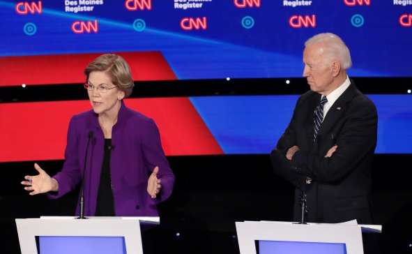 Democratic Debate Elizabeth Warren Joe Biden