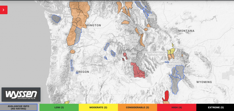 Avalanche Warnings Washington Idaho January 15 2020
