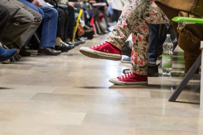 A crowded waiting room