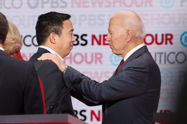 Joe Biden Andrew Yang