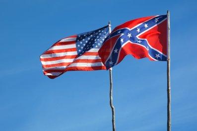 Confederate Flag, American Flag