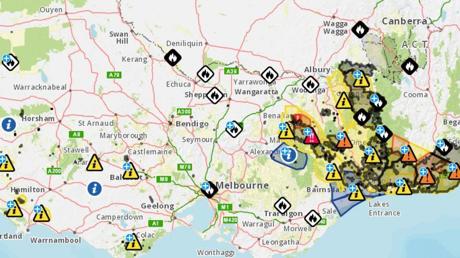 Australia Wildfires Map: At Least 140 Fires Still Burning as ...