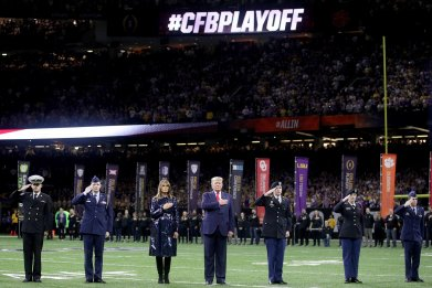 Donald Trump, College Football Playoff
