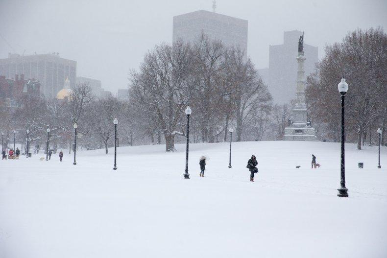 Boston Commons winter storm December 2019