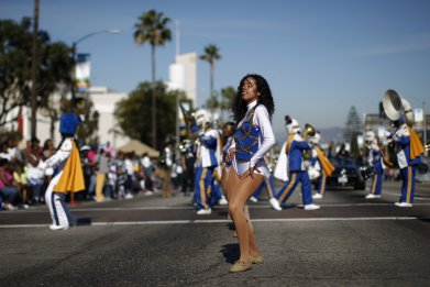 MLK Day Draws Cheerleaders, Bikers and Politicians