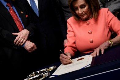 Nancy Pelosi engrossment ceremony