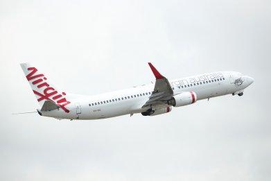 Virgin Australia plane Sydney airport 2019