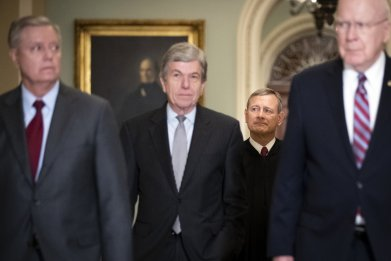 Senate Trump impeachment trial senators oath