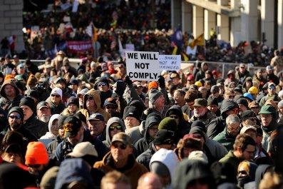 Gun Rights Advocates Rally In Virginia