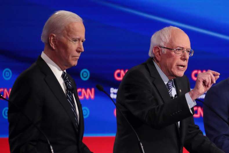 bernie sanders cnn poll joe biden president