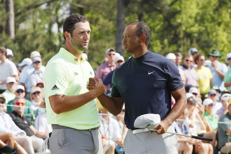 Jon Rahm, Tiger Woods