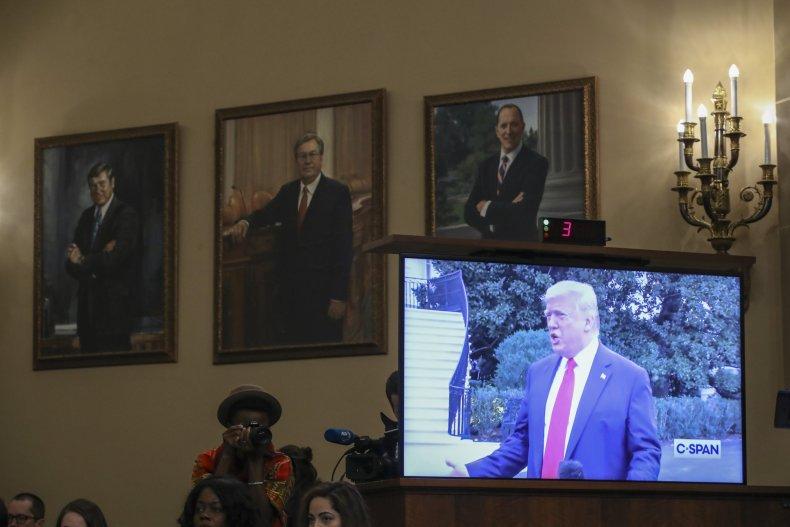 Trump Mulvaney center stage impeachment trial