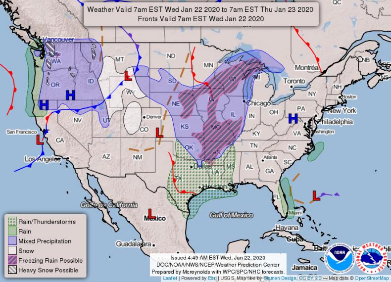 National Forecast NOAA 1232020