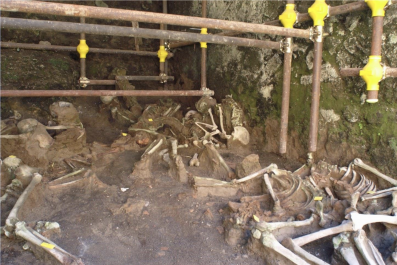 Herculaneum, fornici, human remains