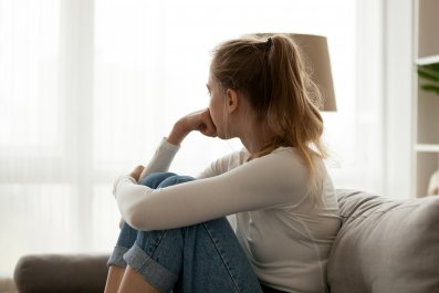 girl, teenager, sad, stock, getty