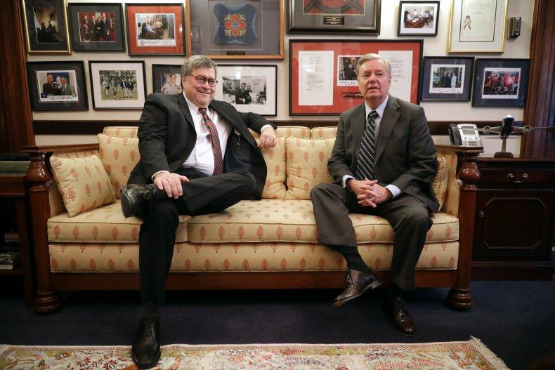 trump impeachment trial william barr lindsey graham