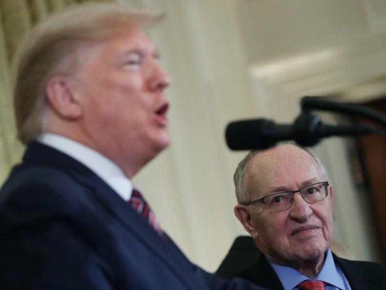 Donald Trump and Alan Dershowitz