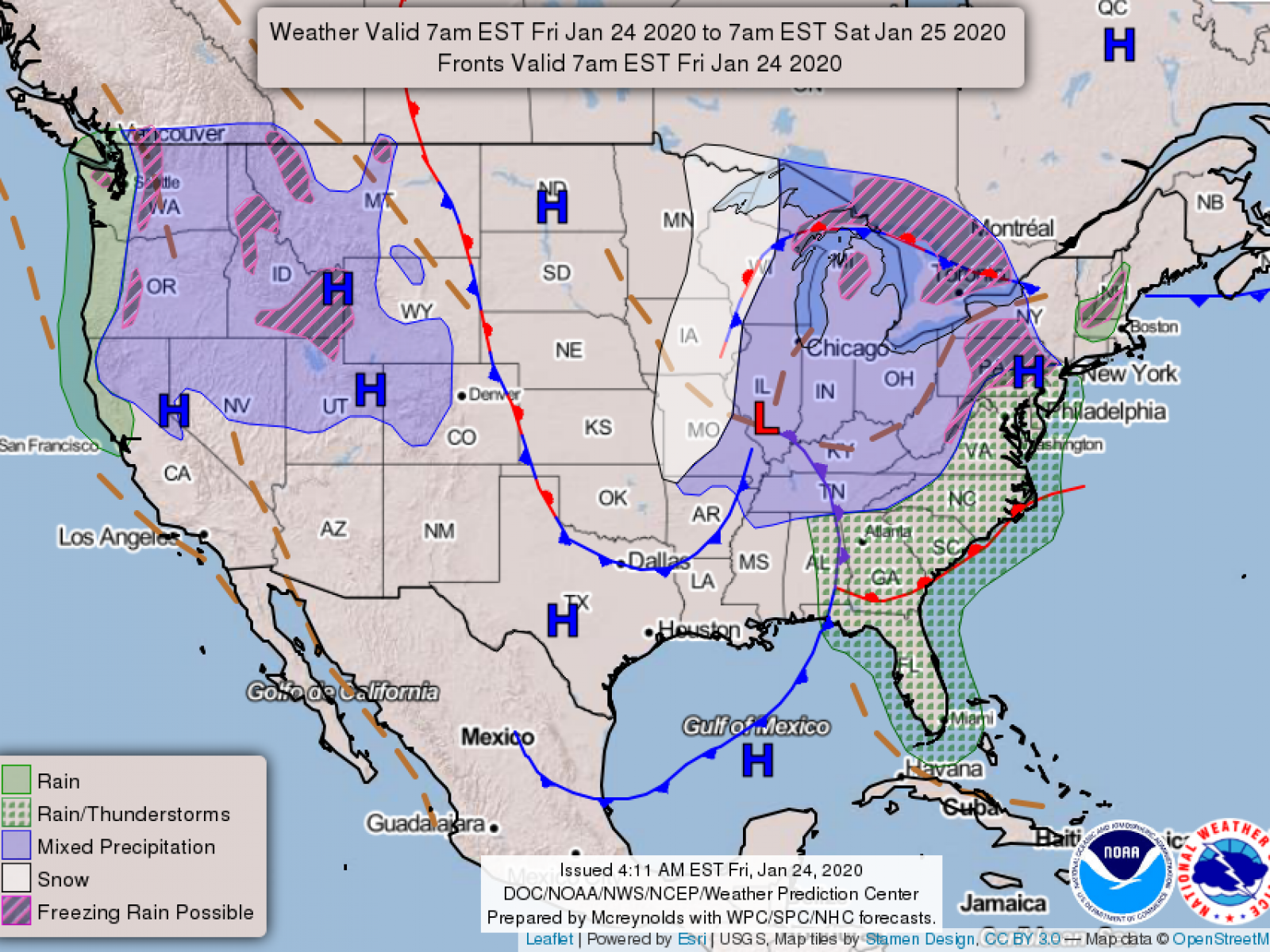 Winter Weather Advisories For Midwest And East Coast How Many