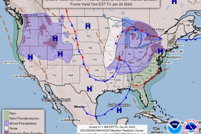 NOAA NWS National Forecast January 24 2020