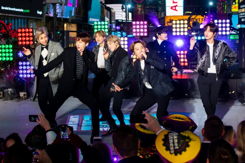 BTS New Year's Eve Times Square 2019