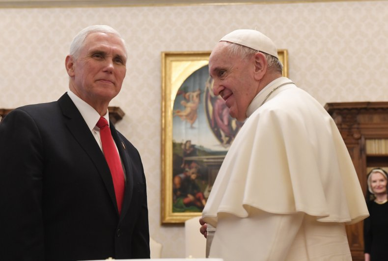 Vice President Mike Pence Pope Francis Vatican