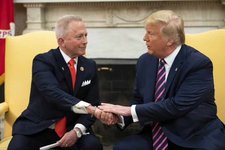 Senator Jeff Van Drew meets Donald Trump