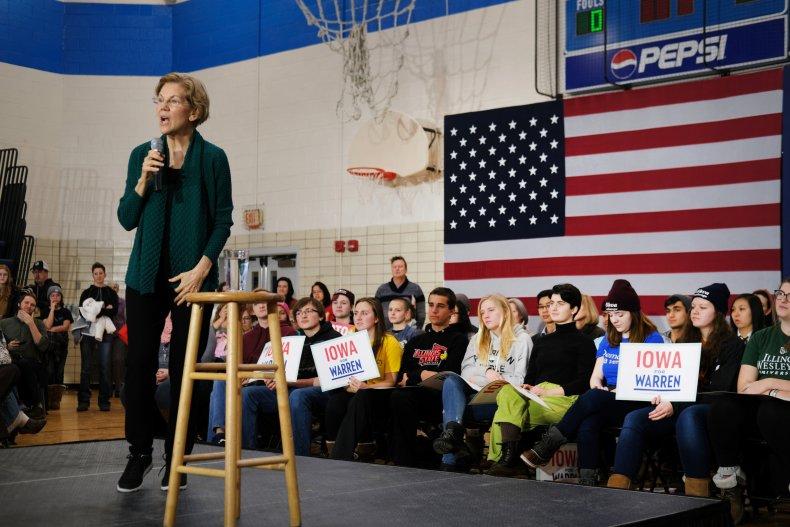 Elizabeth Warren Holds Town Hall In Des Moines