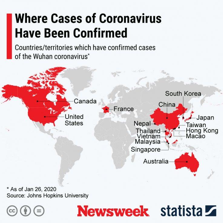 Coronavirus locations statista