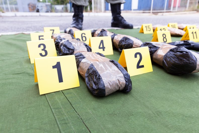 Bricks of drugs seized by police