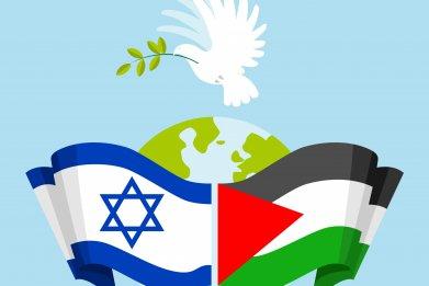 israel, palestine, flags, peace, process