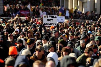 Gun Rights Advocates From Across U.S. Rally In Virginia's Capital Against Gun Control Legislation