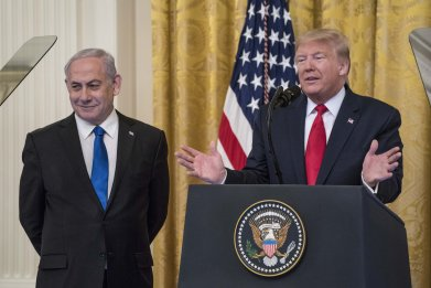 donald, trump, benjamin, netanyahu, israel, palestine, peace