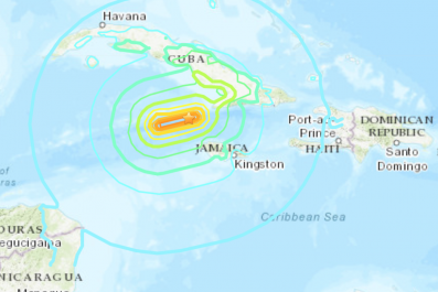 Earthquake Jamaica Cuba January 28 2020