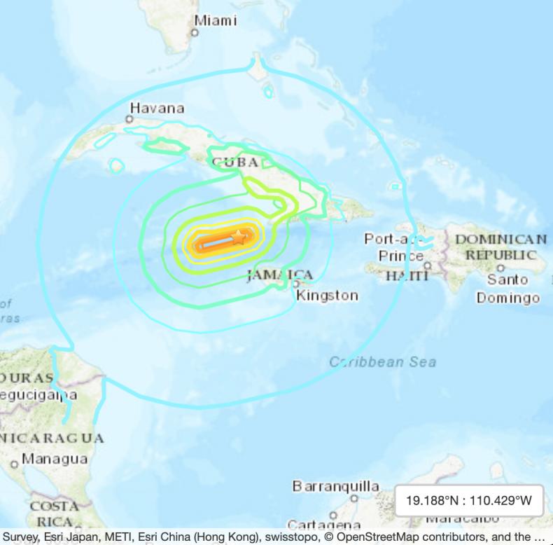 Earthquake Jamaica Cuba January 28 2020