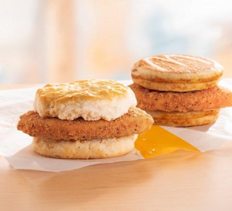 mcdonald's mchicken biscuit chicken mcgriddle