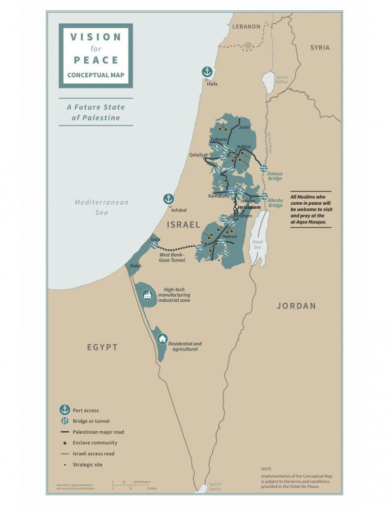 israel, palestine, mideast, peace, plan, map, trump