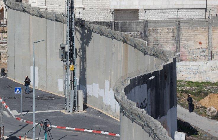 parede, dividir, jerusalém, israel, palestina, plano