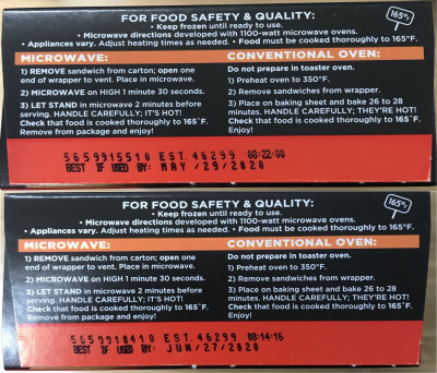 Recalled Pizza Products