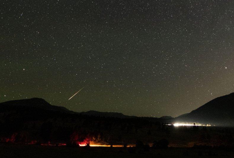 Perseid meteor Rocky Mountain National Park Colorado