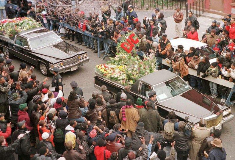 Biggie funeral procession