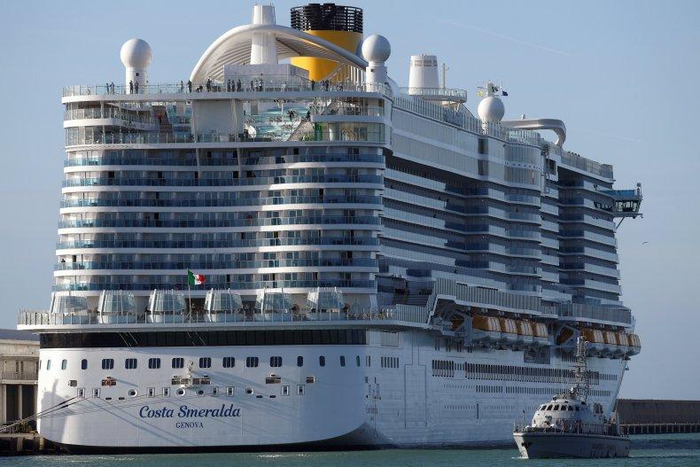 Costa Smeralda cruise ship Civitavecchia January 2020