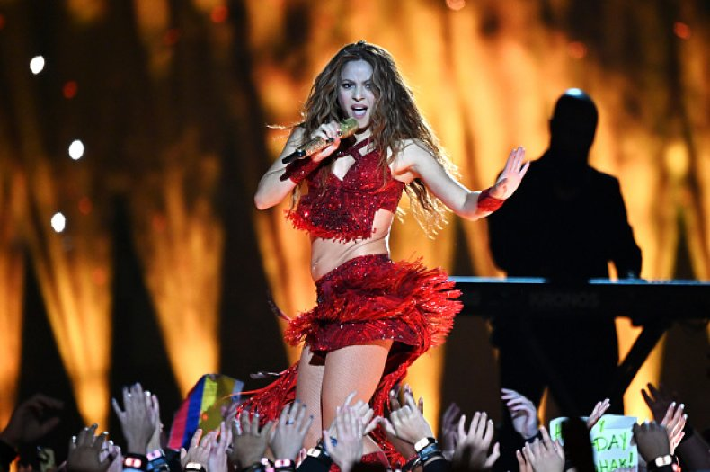 Shakira at Super Bowl
