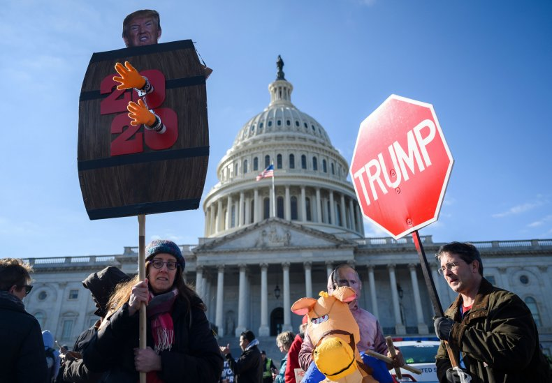 nationwide protests Trump acquittal impeachment trial