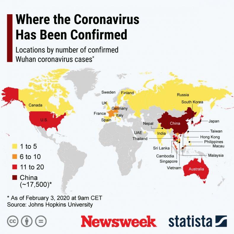 coronavirus, cases, countries, 2019-nCoV