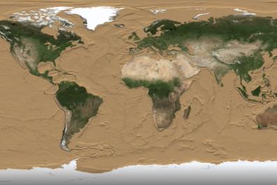 Earth sea level visualization
