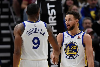 Steph Curry and Andre Iguodala