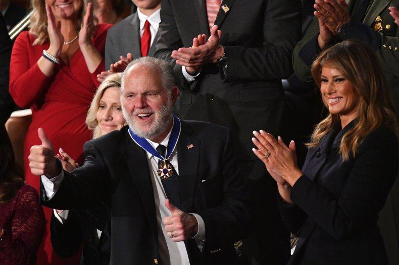 Trump awards Rush Limbaugh State Union