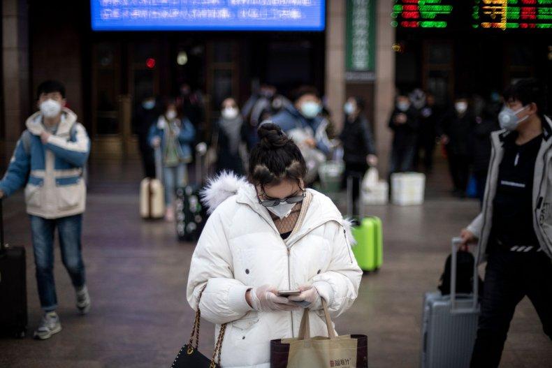 Coronavirus - Beijing Railway Station