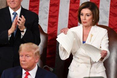 Nancy Pelosi Trump SOTU trends Twitter