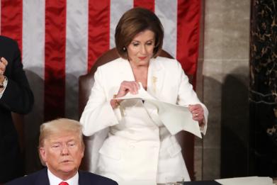 Memes Of Nancy Pelosi Tearing Up Trump's SOTU Speech Have Taken Over The Internet